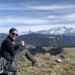 Virginie en randonnée à La Giettaz (Mont Pépito)